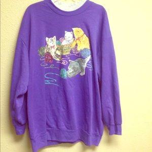 Cat sweatshirt 3x